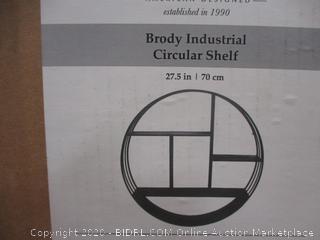 Brody Industrial Circular Shelf