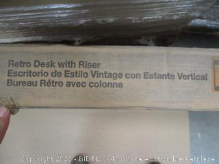 Retro Desk with Riser