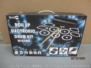 Rock Jam Roll Up Electronic Drum Kit  Powers on