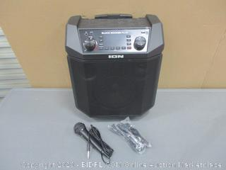 ION Portable PA with Rechargeable Battery Powers on