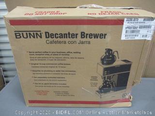 Bunn Decanter Brewer Powers on