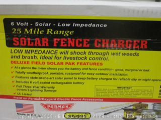25 Mile Range Solar Fence charger