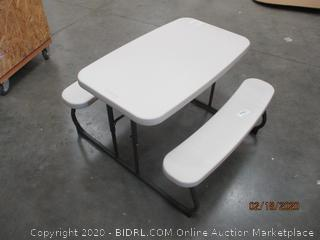 Kids table and seating