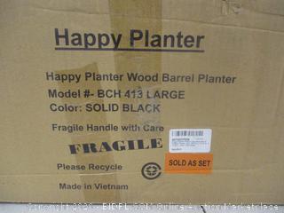Happy Planter Wood Barrel Planter factory sealed