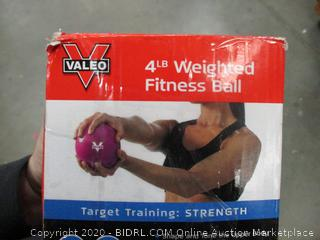 Valeo 4lb Weighted Fitness Ball