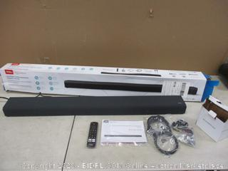 TCL  2.1 Channel sound Bar with built in Subwoofer Powers on