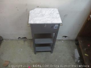 Small Cabinet / damaged at corner see pictures