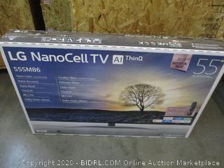 """LG Nano Cell TV 55""""  Power On See Pictures"""
