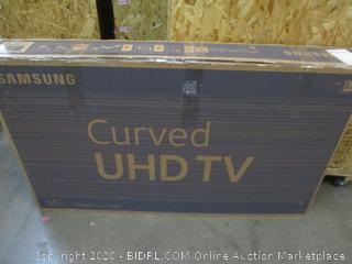 """samsung Curved UHD TV  65""""  Powers on See Pictures"""