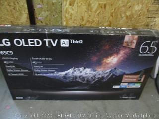 """G OLED TV AI Thin Q  65""""  Powers on See Pictures"""
