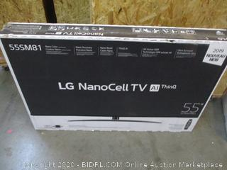 """LG Nano Cell TV AI ThinQ 55""""  Power On See Pictures"""