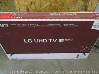 """LG UHD TV AI ThinQ 55"""" Power On  See Pictures"""