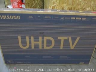 """Samsung UHD TV  7 Series  75"""" Powers on, screen damaged See Pictures"""