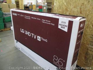 """LG UHD TV AI ThinQ 86"""" Powers on see Pictures Screen Damaged"""