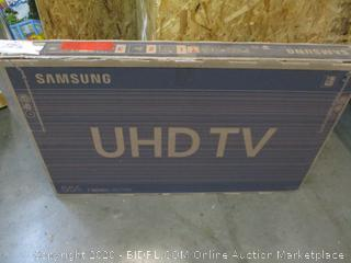 """Samsung UHD TV  55"""" See Pictures Powers On"""
