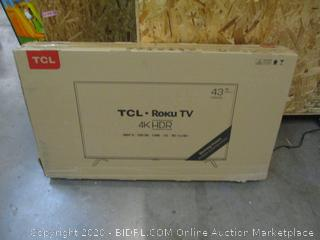 """TCL Roku TV 4K HDR Smart TV 43"""" See Pictures"""