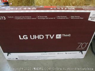 """LG UHD TV AI ThinQ 70"""" Screen Damaged See Pictures"""