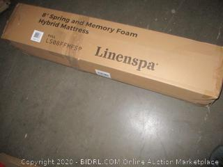"Linenspa 6"" Spring and Memory Foam Hybrid Mattress Full"