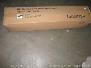 "Linenspa 10"" Spring and Memory Foam Hybrid Mattress Queen"