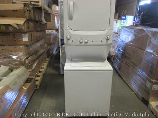 GE Stack Washer/Dryer see Pictures  small scratch see picture