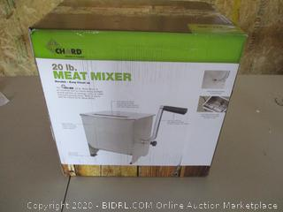 Chard Meat Mixer with Stainless Steel Hopper, 20lbs