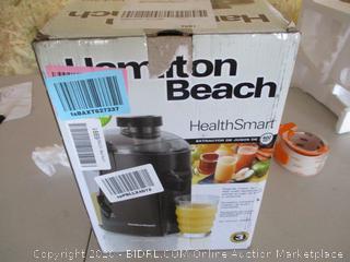 Hamilton Beach Health Smart Juice Extractor, Black