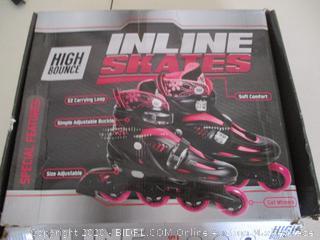 High Bounce Adjustable Inline Skate (Pink, Large (6-9) )