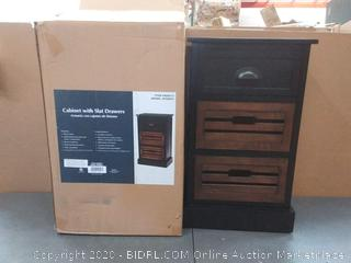 Ebony Wood Veneer End Table(display)