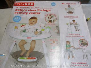 Skip Hop Silver Lining Cloud Baby's View 3-stage Interactive Activity Center (RETAIL $121)