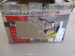 AUDEW Heavy Duty Double Cylinders Air Pump for Car, Portable Air Compressor Pump