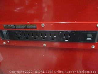 "Husky 72"" 15-Drawer Rolling Metal Toolbox"