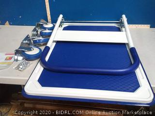 Wellmax platform cart blue
