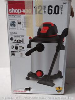 Shop-Vac 12-Gallon 6-HP Wet/Dry Home Garage Shop Vacuum( previously owned powers on)