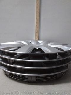 "16"" Silver Plastic Hub Caps (4 ct.)"