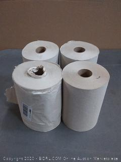 4 brown paper towels rolls