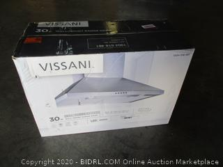 Vissani Wall Mount Range Hood (Powers On)