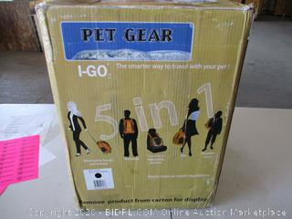 Pet Gear I-GO2 Roller Backpack, Travel Carrier, Car Seat for Cats/Dogs