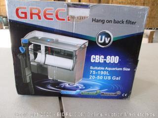 GRECH CBG-800 5W UV Sterilizer Hang-On Back Filter for Aquariums