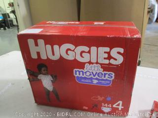 Huggies- Little Movers- Diapers- Size 4 ( 144 Ct Box)