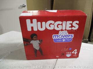 Huggies - Little Movers Diapers Size 4 (144 Count)