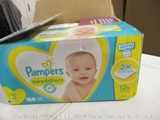 Pampers - Swaddlers Diapers, Size 3 (168 Count)