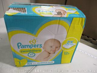 Pampers - Swaddlers Diapers, Size 1 (164 Count)