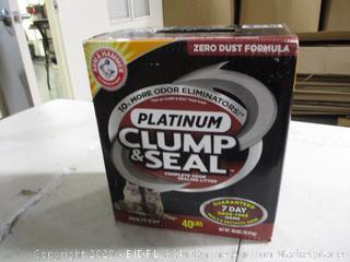 Arm & Hammer- Platinum -Clump & Seal Cat Litter- 40lbs