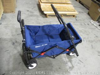 Beau Jardin - Folding Push Wagon Collapsible Cart - Blue (damaged)
