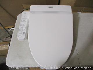 TOTO - SW2034#01 C100 WASHLET Electronic Bidet Toilet Seat, Elongated, Cotton White ($313 Retail)