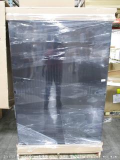 Husky 72 in. H x 46 in. W x 24 in. D Welded Steel Floor Cabinet in Black/Gray