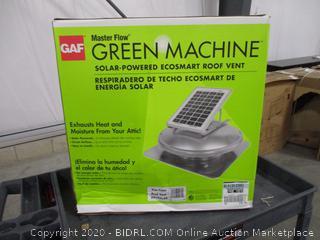 GAF Master Flow Green Machine Solar-Powered Ecosmart Roof Vent
