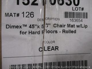 "Dimex 45""x53"" Chair Mat With Lip For Hard Floors"