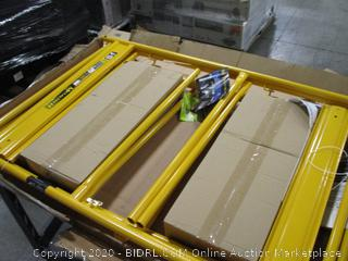 MetalTech 6 ft. x 2.5 ft. x 3.4 ft. Scaffold Guardrail System