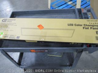 Commercial Electric LED Color Changing Flat Panel 1'x4'